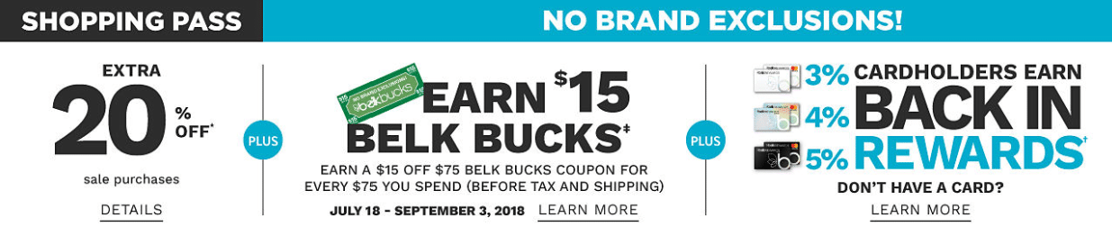 save even more with the belk rewards credit card benefits including 20 off all day including beauty up to 5 back in rewards and earn 10 in rewards for