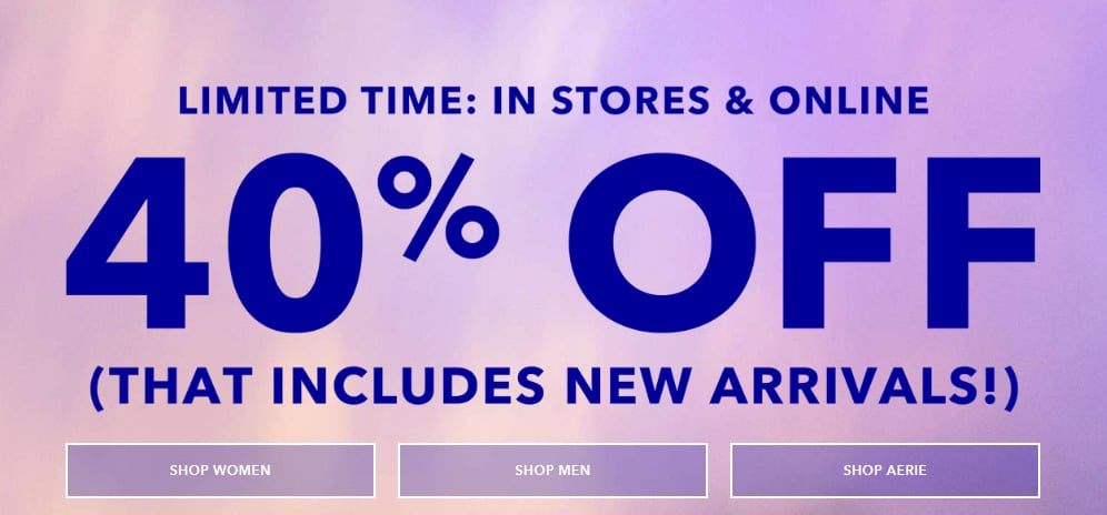 American Eagle Credit Card Sign In >> American Eagle Sales Save 20 60 On Everything