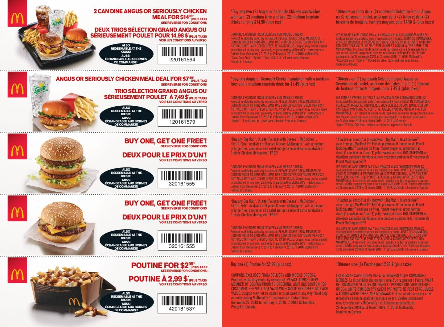 Mcdonald S Coupons Canada Bogo Free Or Two Can Dine For 11 78