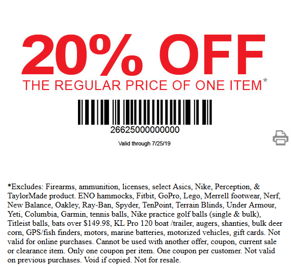 photograph relating to Dunhams Coupons Printable referred to as Dunhams Sporting activities Discounts - 20% OFF Coupon and up towards 60% OFF Sale