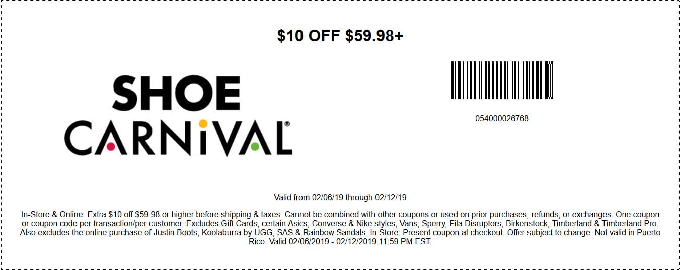 photo relating to Shoe Carnival Printable Coupons identify Shoe Carnival Bargains - $10 OFF Coupon and and Far more $15 OFF