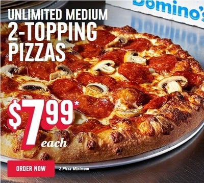 Domino S Canada Deals 50 Off Coupon Pizza Promo Codes