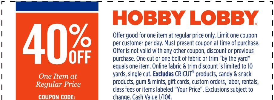 picture regarding Hobby Lobby Coupon Printable identify Passion Foyer Coupon Code Total Get - Outfits Information