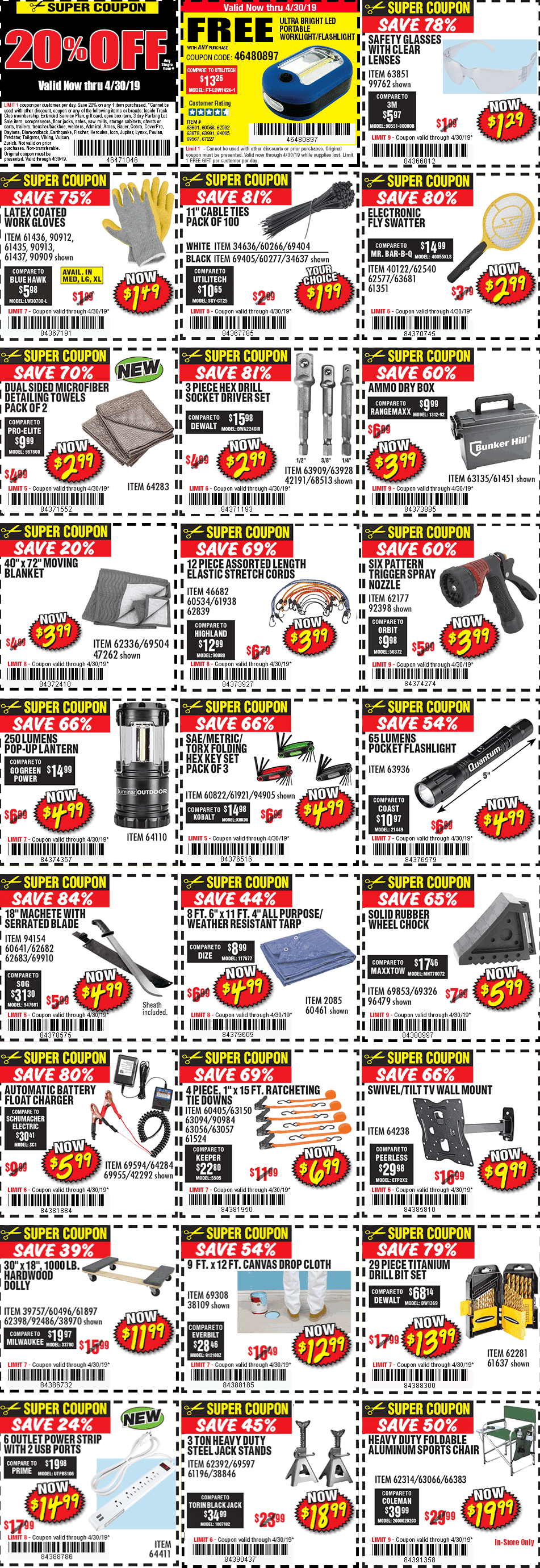 Harbor Freight 20 Off Coupon April 2019 Coupons