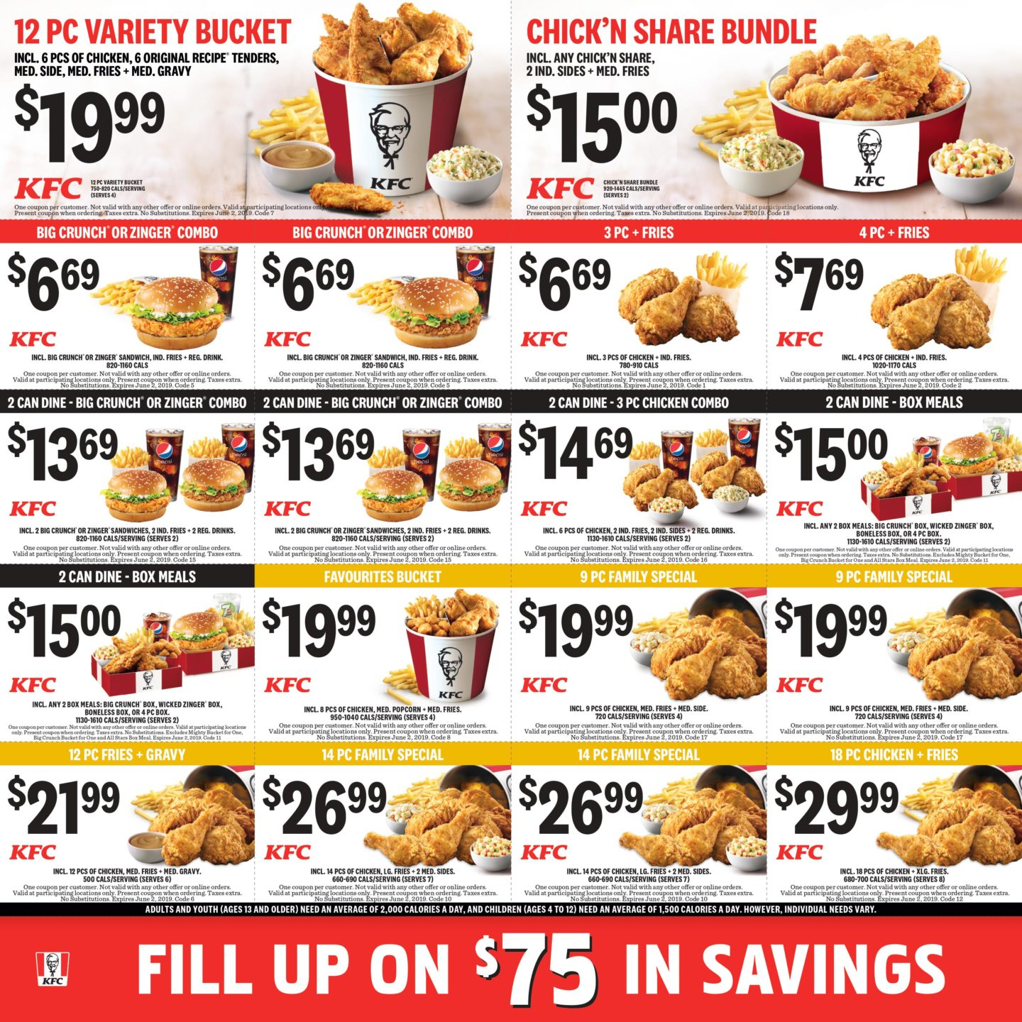 photograph regarding Kfc Printable Coupons called KFC Canada Discount coupons - legitimate all through July 28, 2019