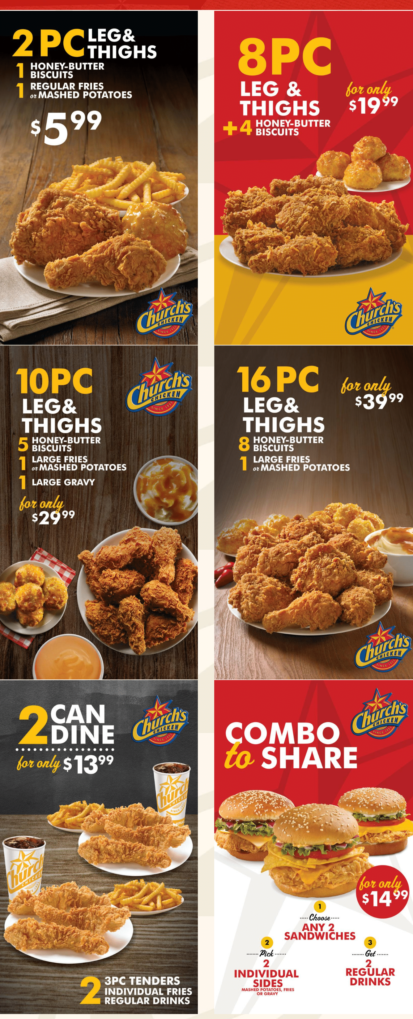 image about Church's Chicken Printable Coupons named Churchs Bird Discount coupons - $2 OFF Sandwich Combinations and Purchase 10