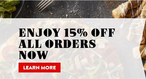 Round Table Pizza Deals 15 Off All Orders Promo Code