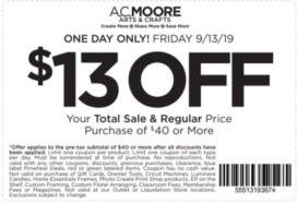 photograph about Ac Moore Printable Coupon titled AC Moore Discount coupons